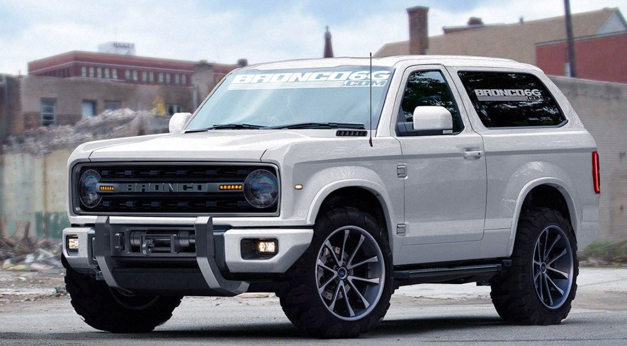 Ford Bronco and Ford Ranger side view