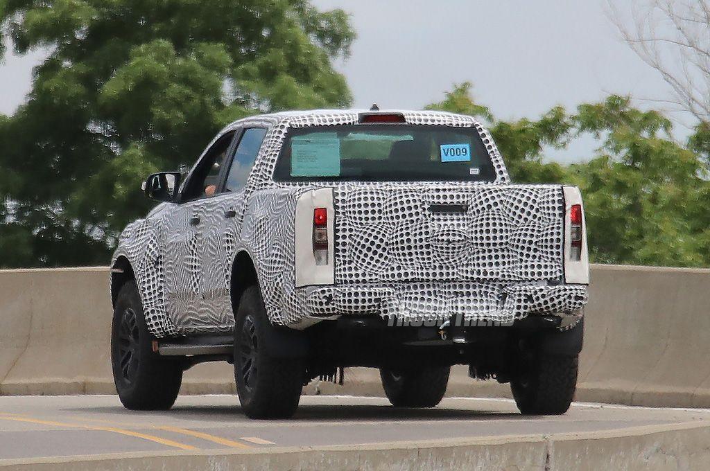 2020 Ford Ranger Raptor rear view